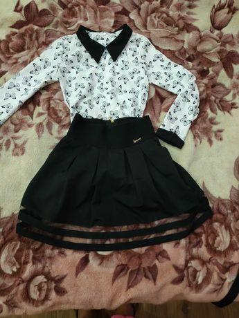Блузка и юбочка для школьницы