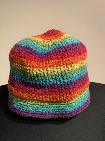 Tęczowa czapka, kapelusz one size