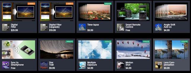 установка Sony PlayMemories Time-lapse NEX, a6000, α6300, a7, a6500