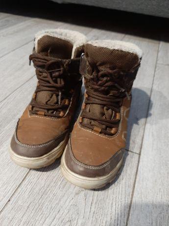 Buty zimowe, chłopięce, kozaki, ocieplane, 34