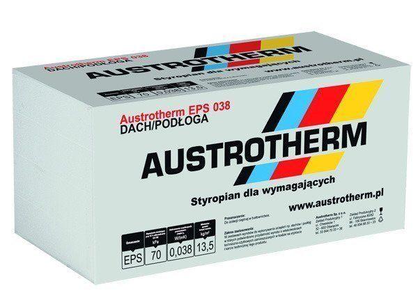 Styropian Austrotherm d/podłoga EPS 038 , cena 285,00 brutto m3