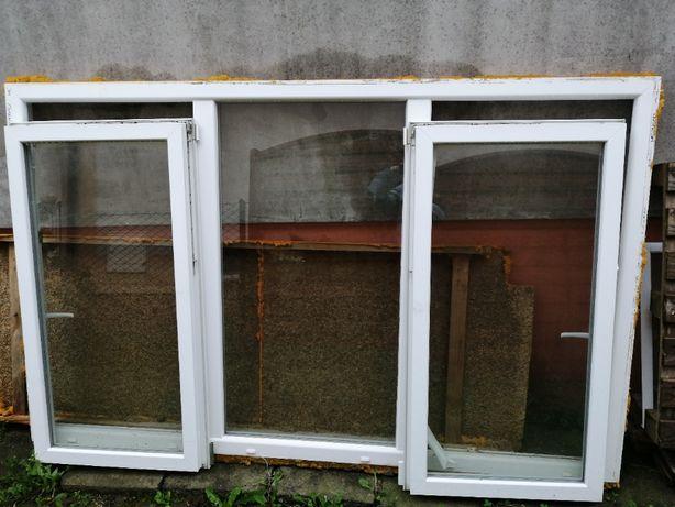 Okno potrójne dwuskrzydłowe 223x138 po demontażu + moskitiera