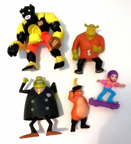 Bonecos plásticos 5 peças