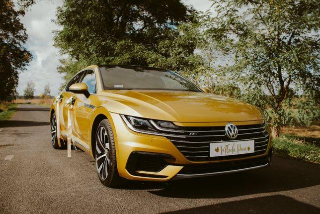 Auto do ślubu Volkswagen Arteon R-line Złoty Kurkuma Wolne Terminy!
