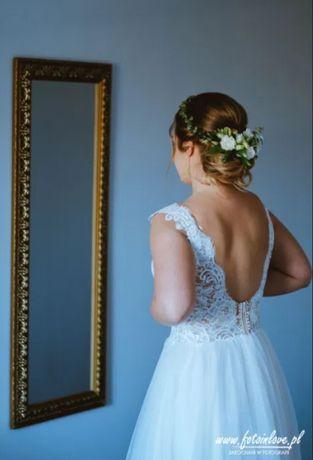 Suknia ślubna BOHO, KORONKA