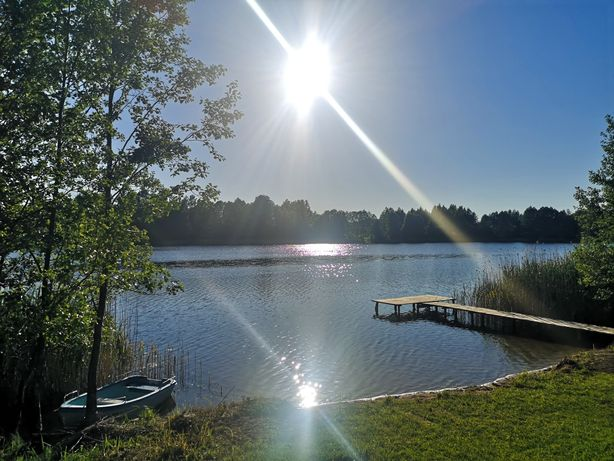 Pole kempingowe, Działka nad jeziorem, camping, camper, wakacje