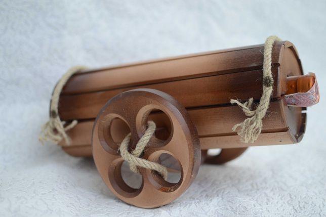 Сувенір мінібар гармата з дерева Подарунок для чоловіків