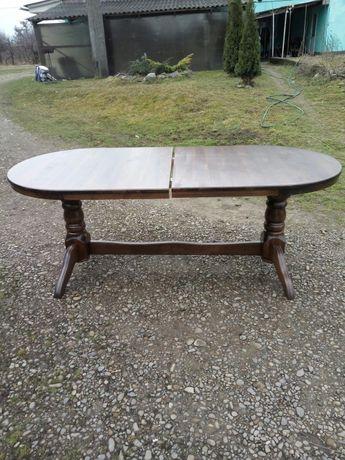 Кухонный + гостиннный стол из массива бука
