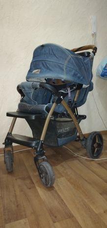 Коляска детская Baciuzzi 501, джинсовый цвет