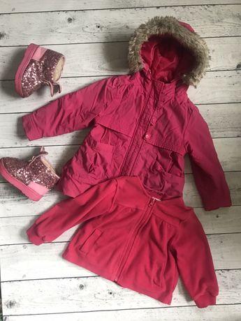 Куртка с флисовой подкладкой флиска кофтой zara демисезон 2 г 18-24