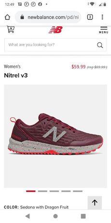 Беговые кроссовки New Balance Nitrel v.3