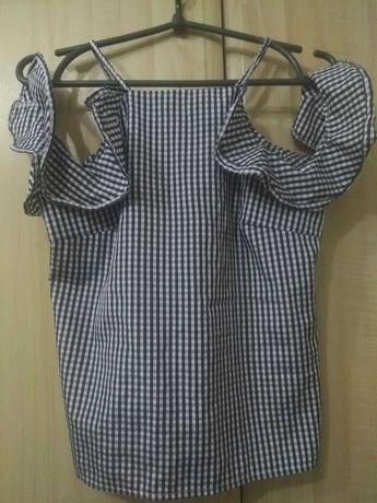 Блуза літня.Клітинка.Проста тканина.Розмір 42.