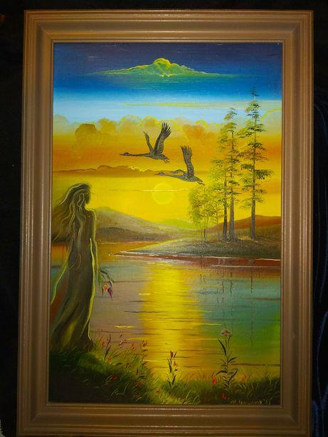 Пейзаж картина живопись масло