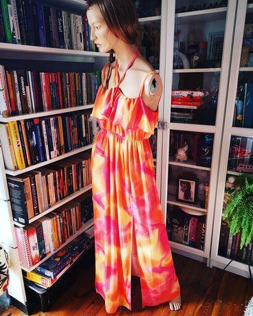 Amy childs letnia długa sukienka maxi dress rochelle plażowa 44 xxl
