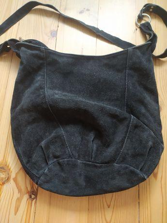 Torebka torba zamszowa