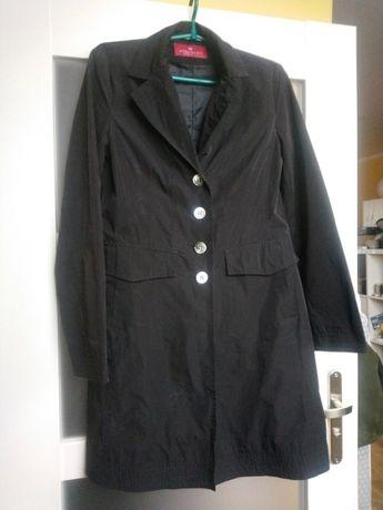 Czarny cienki płaszcz dino moda