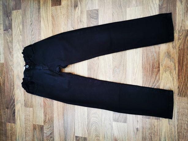 Czarne spodnie jeans Zara roz 122