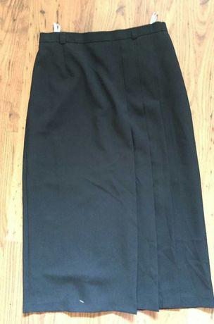 Spódnica 40/42 plisy,rozporek ,midi L/XL