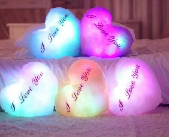 Poduszki pluszowe led świecące