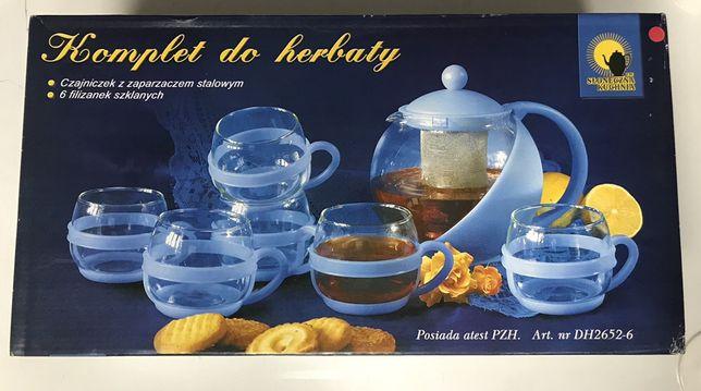 Zestaw do herbaty czajniczek filiżanki 6szt