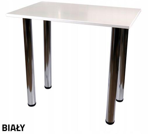 2 stoliki białe 70x70