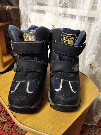 Ботинки зимние на мальчика, 34 размер, 500 руб