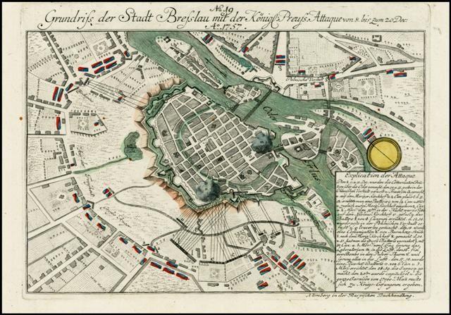 WROCŁAW reprodukcje XVI-XIX w. planu miasta do aranżacji wnętrza