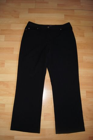 spodnie damskie  czarne wygodne prosty kroj 44 / 46 xxl naciagliwe