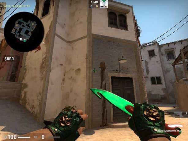 CS GO Нож Эмеральд + перчатки зелёные + 50 капсул в подарок