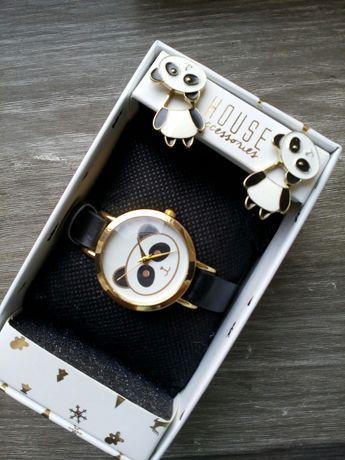 Zestaw, zegarek i kolczyki
