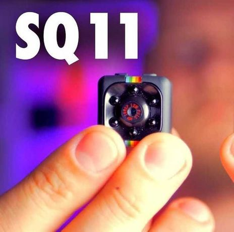 Мини камера, видеорегистратор SQ11 Full HD. Маленькая 2,3 x 2,3 см