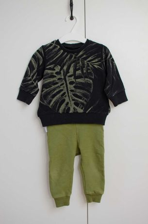 Komplet bluza+leginsy, rozmiar 74,