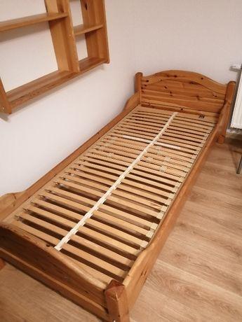Łóżko sosnowe ze stelażem