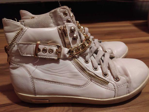 Buty sneakersy biale