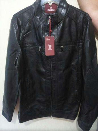 Курточка мужская, кожаная, новая 54 размер