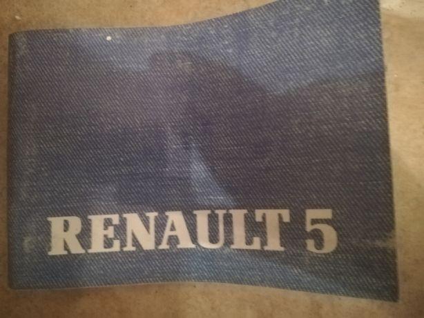 Renault 5 Livro de Instruções