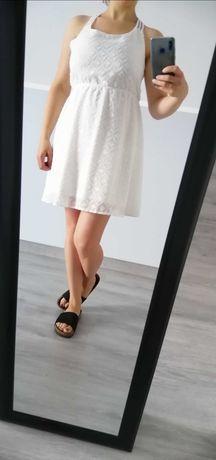 Sukienka letnia, kolor ecru