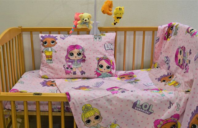 Постельное в детскую кроватку из турецкого хлопка