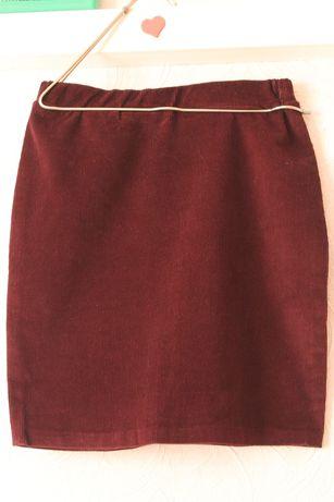 юбка бордо бургунди вельветовая
