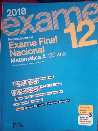 preparação exame matemática 12º ano Porto Editora