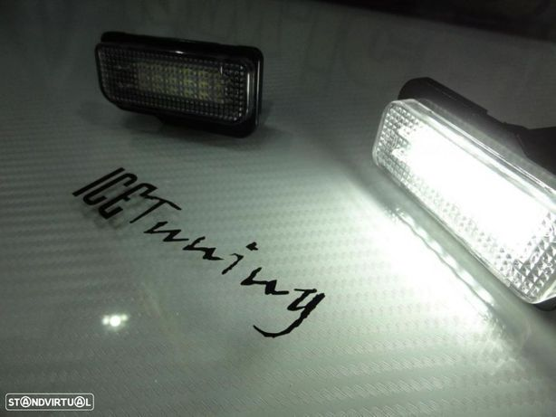 Suporte De Lâmpada De Matricula Com Led Branco Para Mercedes CLS W219, SLK R171