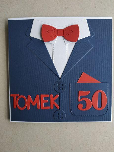 Kartka ręcznie robiona urodziny imieniny urodzinowa 50 40 18