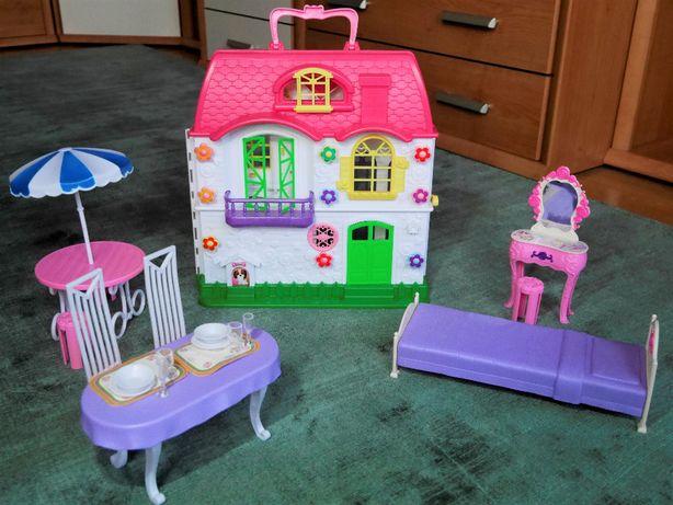 domek dla lalek z akcesoriami + puzzle