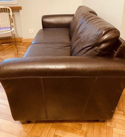 Sofa skórzana kolor czekoladowy