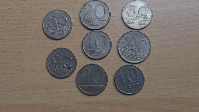 Monety PRL 10zł, 20zł, 50zł, 100zł 1990r. - 8szt.