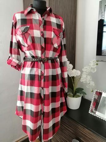 Nowa sukienka z metką w kratkę - rozmiar 46