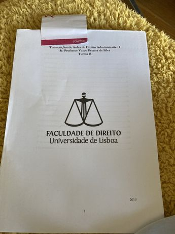 Transcricoes de aulas de Direito Administrativo