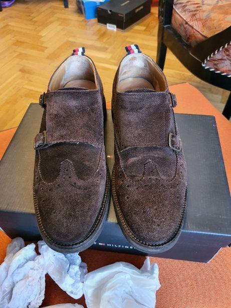 Мужские замшевые брогги Tommy Hilfiger, 42 размер, коричневые
