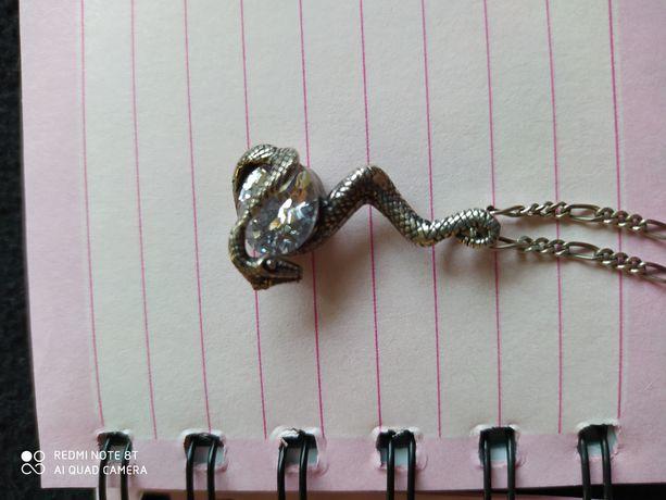 Кулон змея и цепочка 925