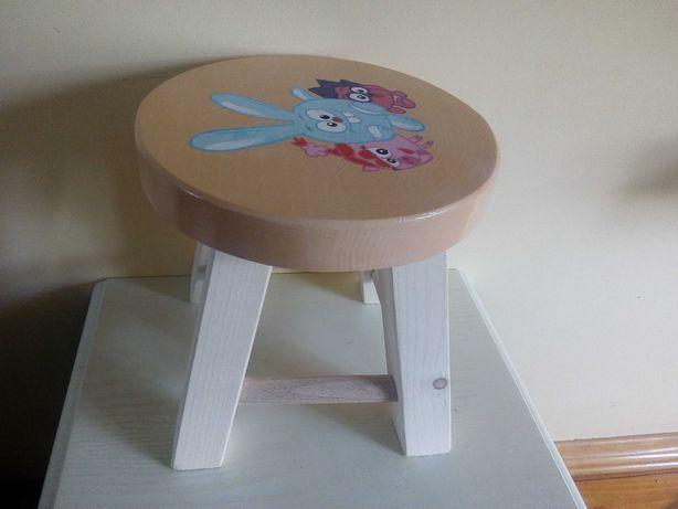 Круглый,удобный,деревянный стульчик для детей (табурет)